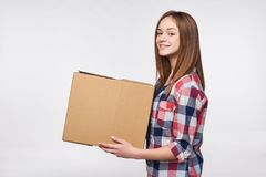 Delivery, relocation and unpacking. Stock Photography