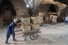 Delivery of rice straw Stock Photos