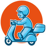 Delivery scooter Stock Images