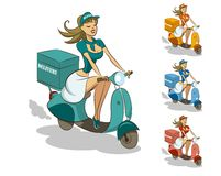 Delivery scooter Royalty Free Stock Photography