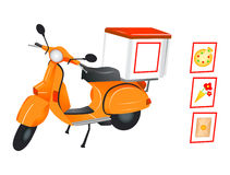 Delivery Scooter Royalty Free Stock Images