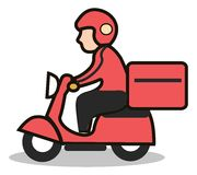 Delivery scooter icon Royalty Free Stock Image