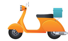Delivery Scooter, illustration Royalty Free Stock Photos