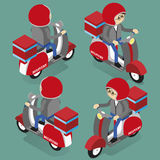 Delivery scooter isometric vector Royalty Free Stock Photo