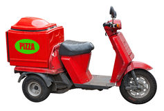 Delivery scooter for pizza Royalty Free Stock Photos
