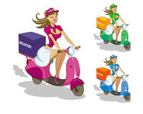 Delivery scooter Stock Photos