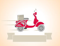 Delivery scooter vector retro design Stock Photos
