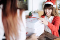 Delivery and send mail box to customer. Stock Images