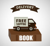 Delivery service books Royalty Free Stock Image