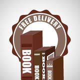 Delivery service books Royalty Free Stock Photo