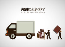 Delivery service books Royalty Free Stock Images
