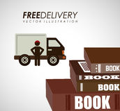Delivery service books Royalty Free Stock Photos