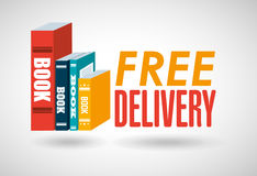 Delivery service books royalty free illustration