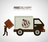 Delivery service books Royalty Free Stock Photography