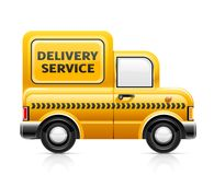 Delivery service car Stock Image