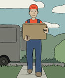 Delivery service Royalty Free Stock Photo