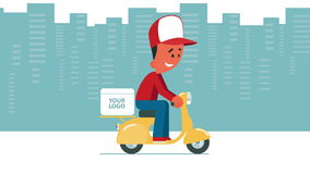Delivery service. stock illustration