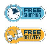 Delivery service with chronometer Stock Images