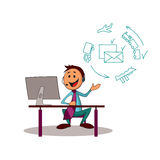 Delivery service consultant. Delivery service on-line consultant stock illustration
