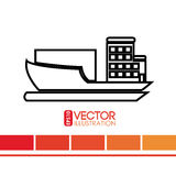 Delivery service design Stock Photos