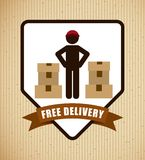 Delivery service design. Illustration eps10 graphic Royalty Free Stock Photos