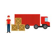Delivery service design. Illustration eps10 graphic royalty free illustration