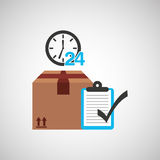 Delivery service design. Illustration eps10 graphic Royalty Free Stock Photo