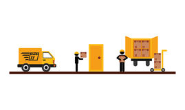 Delivery service design Stock Images