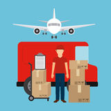Delivery service Royalty Free Stock Images