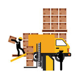 Delivery service. Design, vector illustration graphic Stock Image