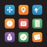 Delivery service flat design icons set Royalty Free Stock Photos