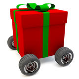 Delivery service for gifts Stock Photos