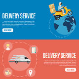 Delivery service horizontal website templates Stock Photo