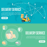 Delivery service horizontal website templates Stock Photography