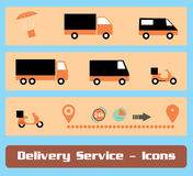 Delivery Service Icon Set Royalty Free Stock Images