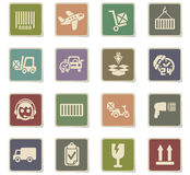 Delivery service icon set. Delivery service web icons for user interface design Royalty Free Stock Photos