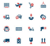 Delivery service icon set. Delivery service web icons for user interface design Stock Photography