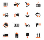 Delivery service icon set. Delivery service web icons for user interface design Royalty Free Stock Images