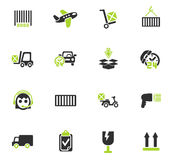 Delivery service icon set. Delivery service web icons for user interface design Royalty Free Stock Photo