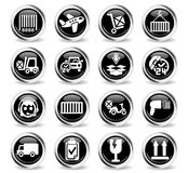 Delivery service icon set. Delivery service web icons for user interface design Royalty Free Stock Photography