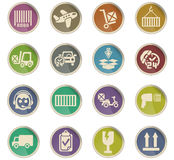 Delivery service icon set. Delivery service web icons for user interface design Stock Image
