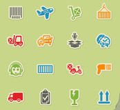 Delivery service icon set. Delivery service web icons for user interface design Royalty Free Stock Image