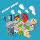 Delivery Service Isometric Composition vector illustration