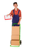 Delivery service man Royalty Free Stock Photos