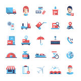 Delivery service modern flat design icons and pictograms Royalty Free Stock Image