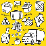 Delivery service objects vector set Royalty Free Stock Photo