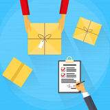 Delivery Service Package Box Receiving Courier Royalty Free Stock Images