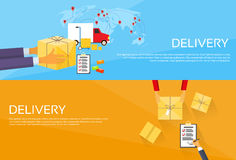 Delivery Service Package Box Receiving Courier Royalty Free Stock Photos
