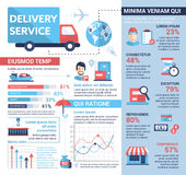 Delivery Service - poster, brochure cover template Royalty Free Stock Image