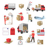 Delivery service set Royalty Free Stock Images